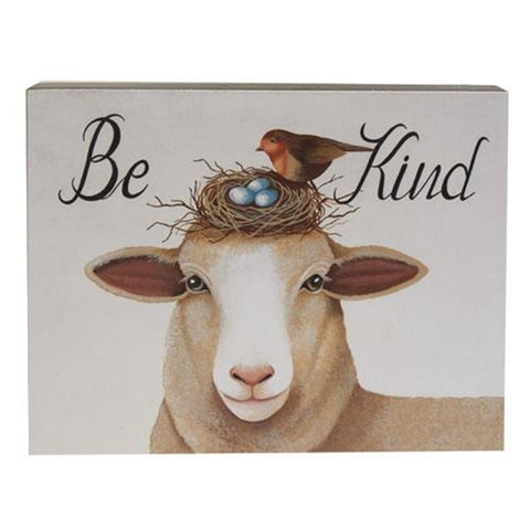 Be Kind Sheep with Bird & Nest Box Sign