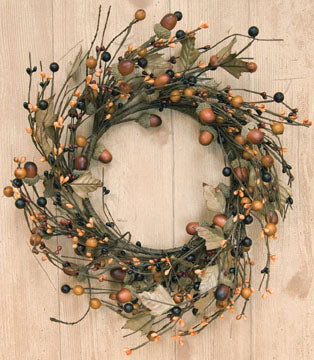 "Berries and Acorns 12"" Wreath"