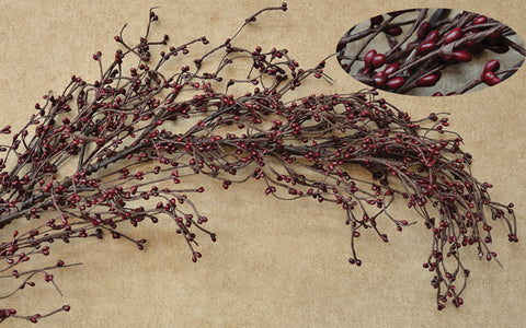 Burgundy Pip Berry 4 foot long Garland