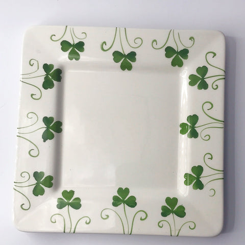 "Farval Shamrock 9"" Square Plate Made in Portugal"