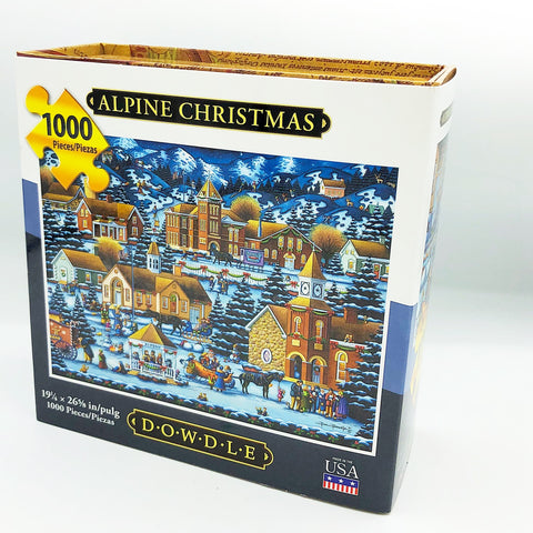 Alpine Christmas 1000 pc Puzzle Dowdle Folk Art #10047