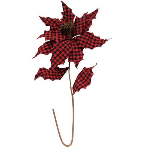 Jumbo Buffalo Gingham Poinsettia