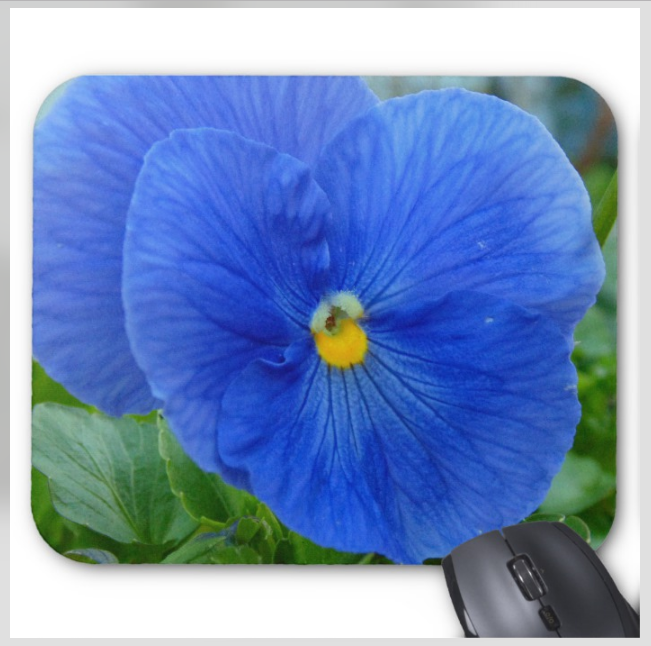 Flower Mousepad - Blue Pansy - Mouse Pad