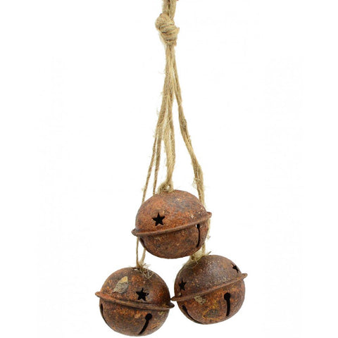 Set of Three Rusty Jingle Bells