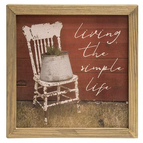 Living the Simple Life Box Sign