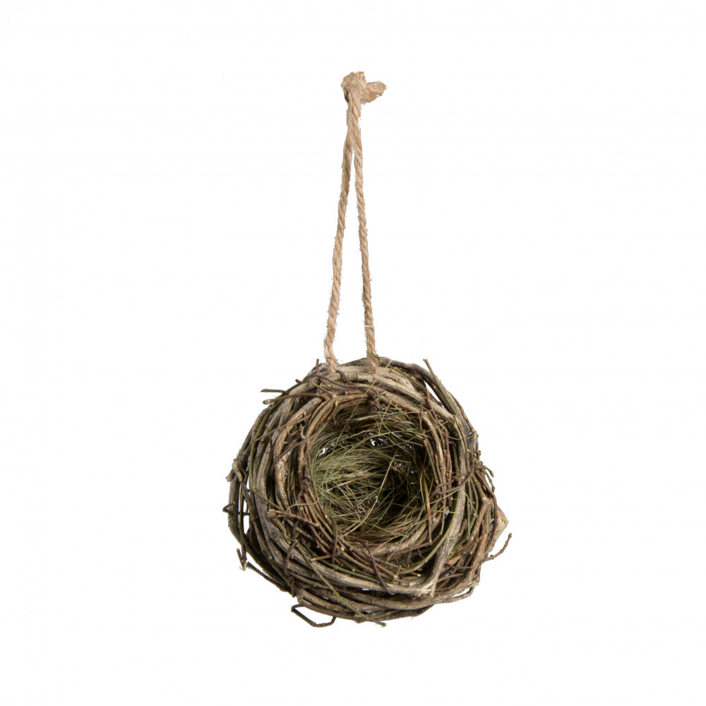 Natural Hanging Twig Birdnest 4""