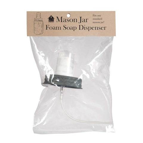 Mason Jar Foaming Soap Dispenser Barn Roof Lid