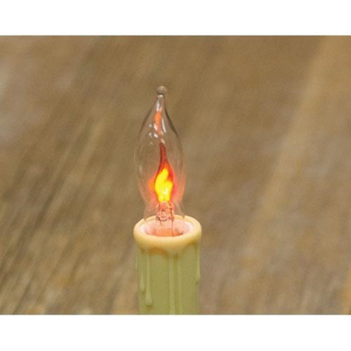 Set of Two Flicker Flame Bulbs 1 W