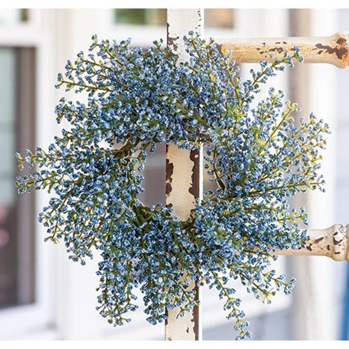Sky Blue Astilbe Small Wreath Ring