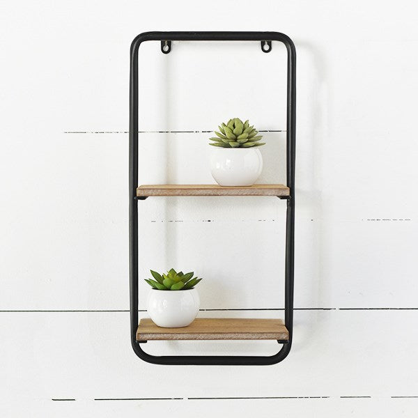 Modern Double Hanging Wall Shelves