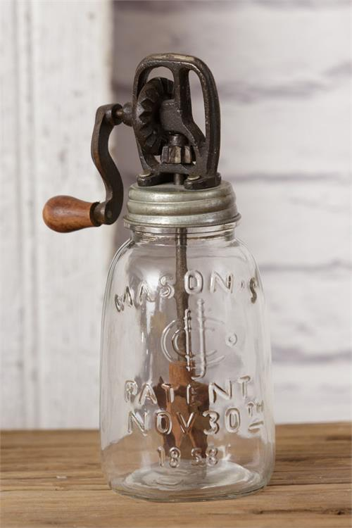 Antique Style Butter Churn Mason Jar