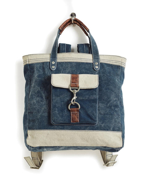 Relaxed Blue Canvas Tote Wilder Backpack Mona B