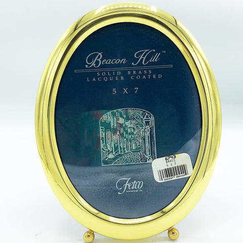 "Beacon Hill Solid Brass 5"" x 7"" Picture Frame Fetco"