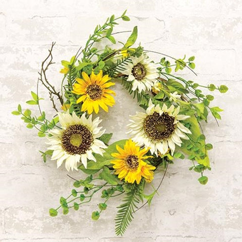 "Summer Summit 12"" Faux Floral Small Wreath"