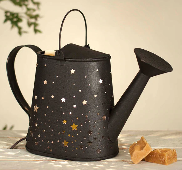 Rustic Brown Stars Garden Watering Can Electric Wax Warmer