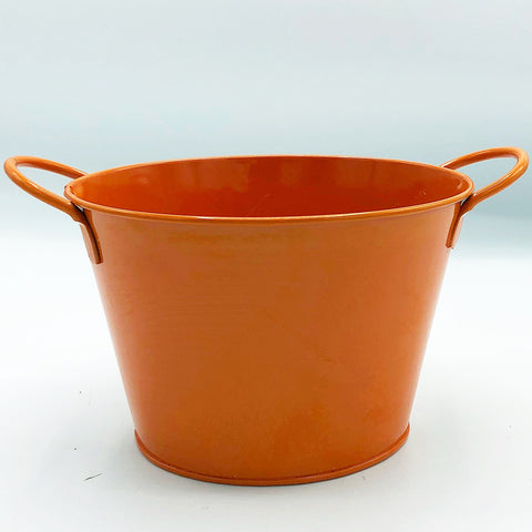 "Orange 4"" H Oval Shaped Goodie Bucket"