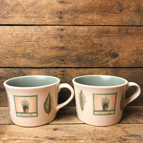 Set of 2 Pfaltzgraff Naturewood Tea Coffee Wide Mouth Mugs