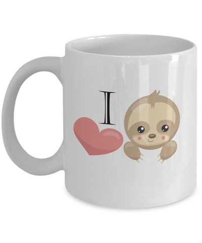 Sloth Mug - I Love Sloths - 11 oz Gift Mug