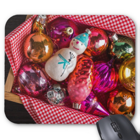 Christmas Mousepad - Vintage Snowman Ornament - Mouse Pad