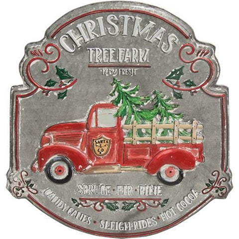 Christmas Tree Farm Vintage-Style Sign