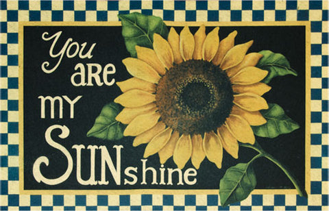 You Are My Sunshine Sunflower Non-skid Floor Mat