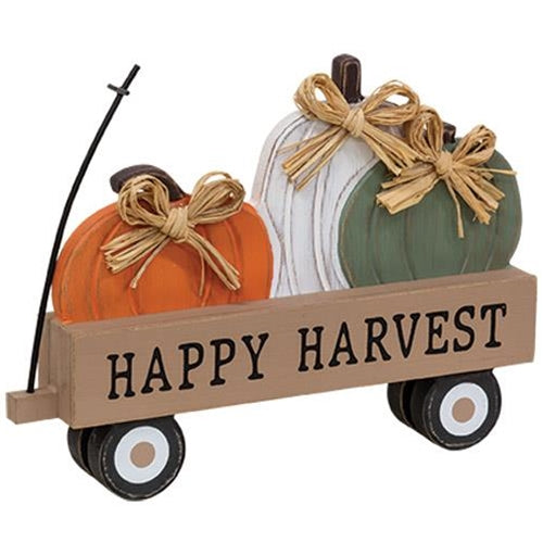 Happy Harvest Pumpkin Wagon Sitter