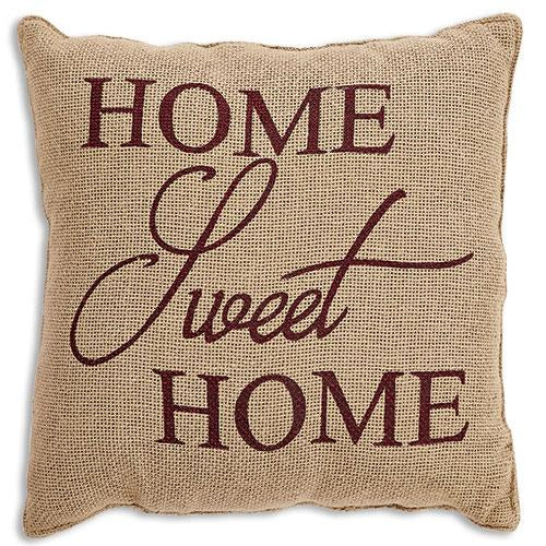 "Home Sweet Home Natural 12"" Pillow"