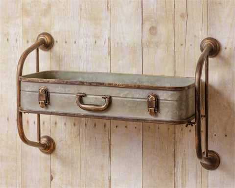 Galvanized Suitcase Open Shelf