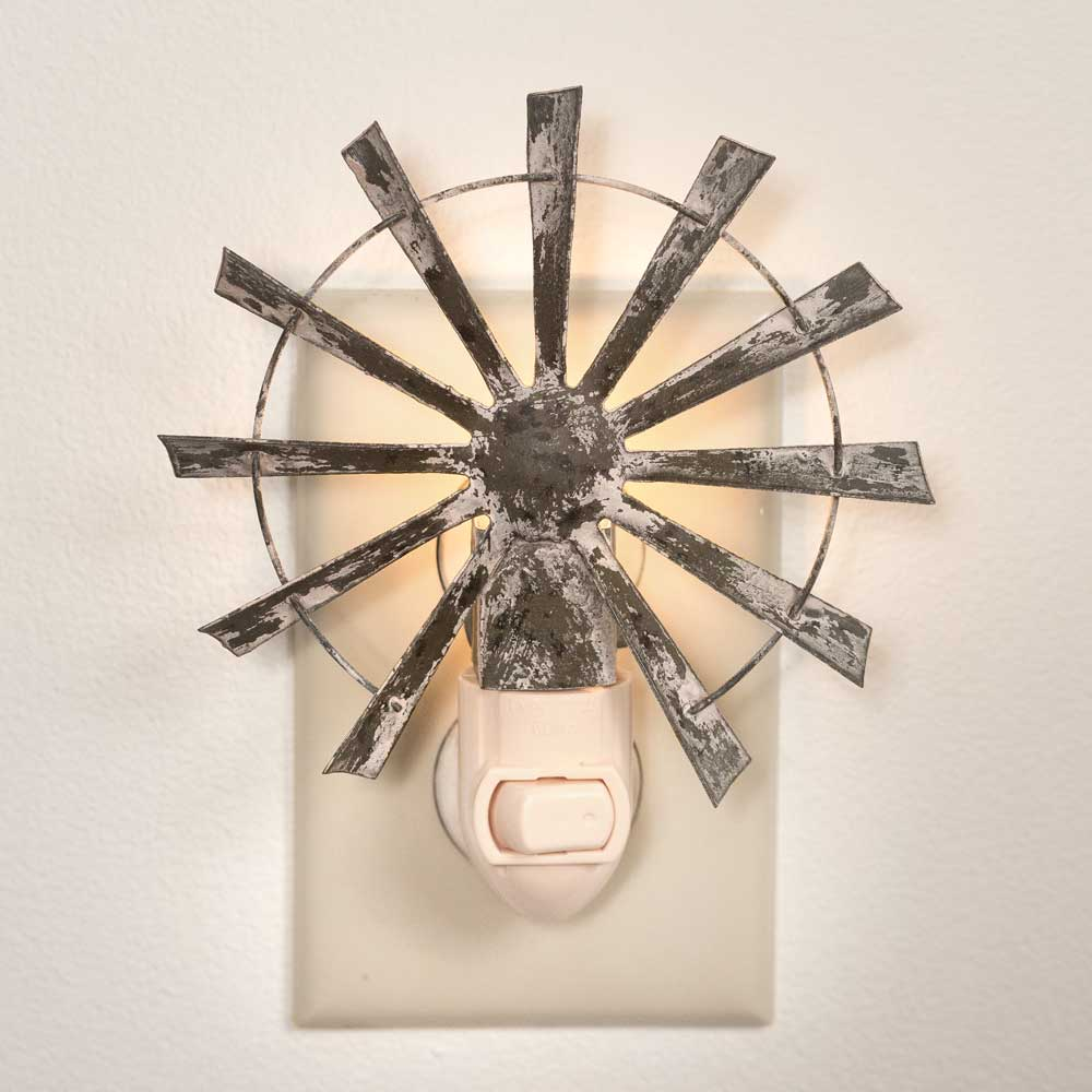 Rustic Windmill Night Light