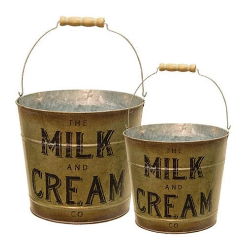 Set of 2 The Milk & Cream Co Buckets