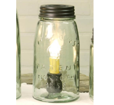Farmhouse Quart Mason Jar Lamp