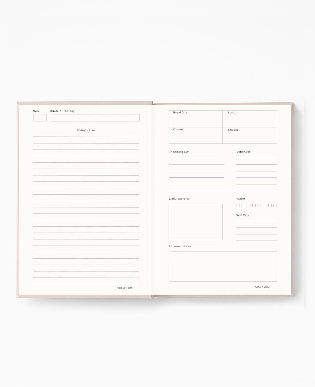 Gold-Dust Daily Planner - CGD LONDON