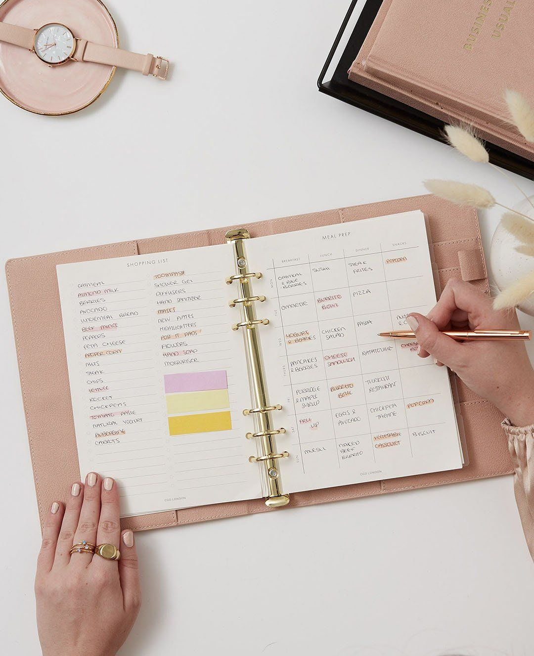 Meal-Plan Agenda Inserts - CGD LONDON