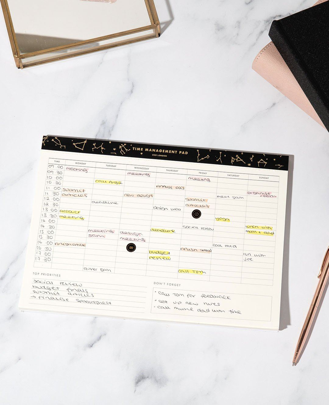 Time Management Pad - CGD LONDON