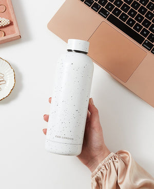 White Speckled Water Bottle - CGD LONDON