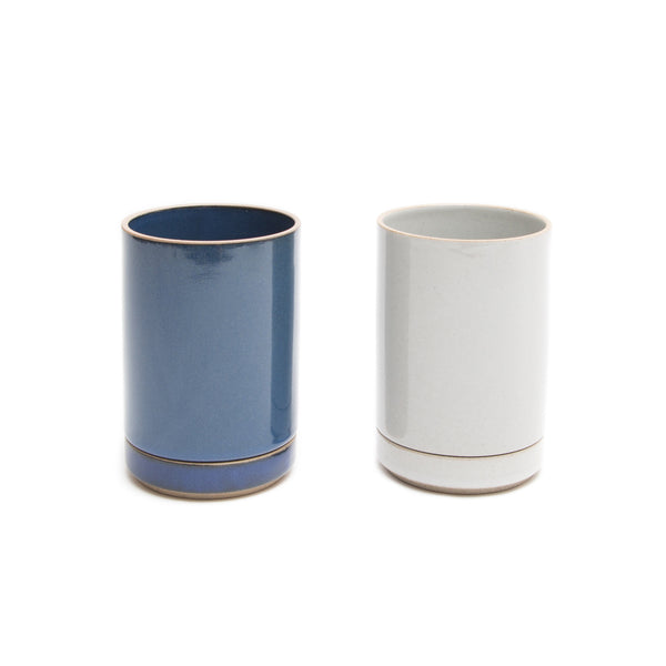 Planter Set - Small, Gloss-Planter-Hasami Porcelain-Gloss Blue-JINEN