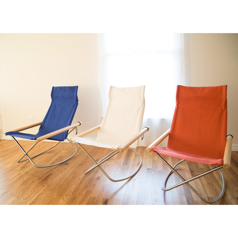 Rocking Chair, Vermilion-Chair-Nychair X-JINEN