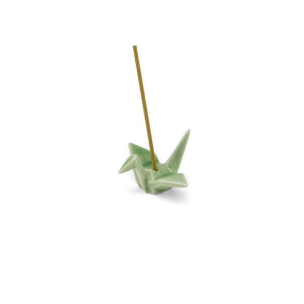 Crane Ceramic Incense Holder