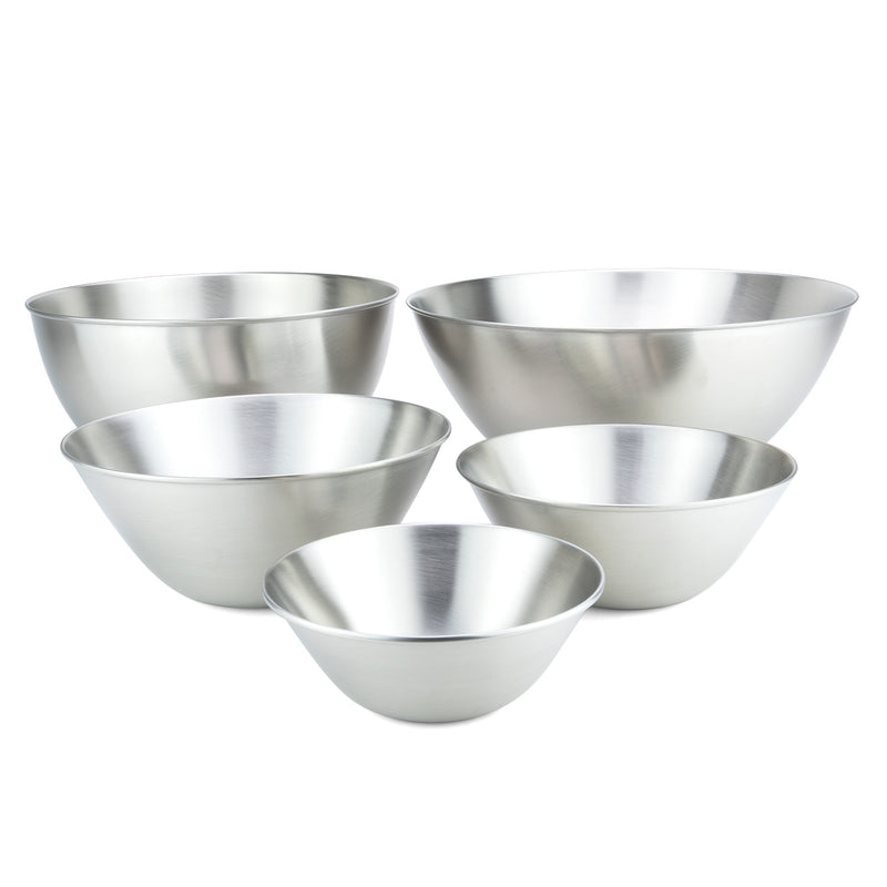 Stainless Steel Mixing Bowls, 5 Pc Set