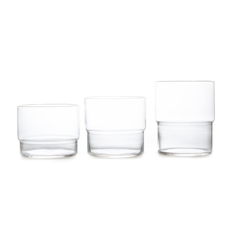 10.5 oz. Fino Stacking Glass - 6 Pack-Glass Cup-Toyo Sasaki Glass-JINEN