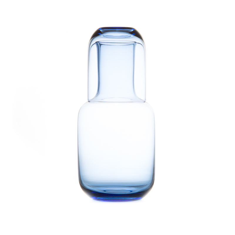 Night Carafe Set-Glass Carafe-Toyo Sasaki Glass-Blue-JINEN