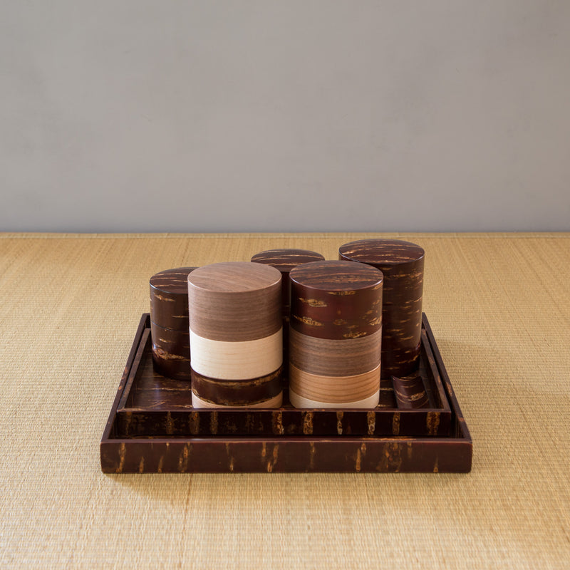 Tea Canister - Wazutsu - Cherry Tree Bark-Tea Canister-Denshiro-JINEN