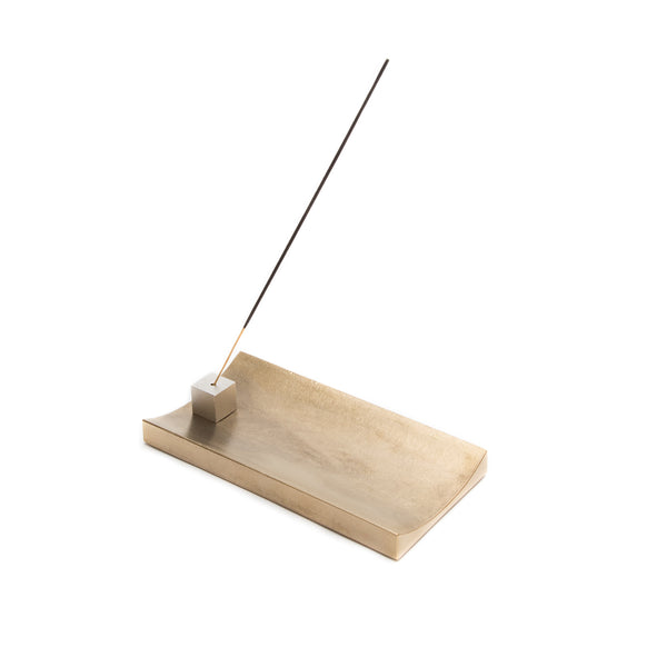 Brass Cubic Incense Holder-Incense Holder-Hakuhodo-Gold-JINEN