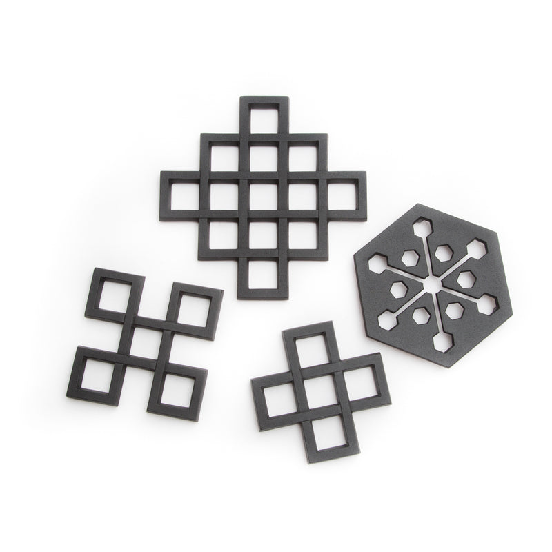 "Cast Iron Trivet - Lattice, 5""-Trivet-Kamasada-JINEN"