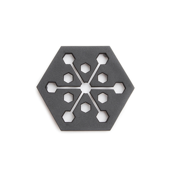 "Cast Iron Trivet - Hexagon, 6.25""-Trivet-Kamasada-JINEN"