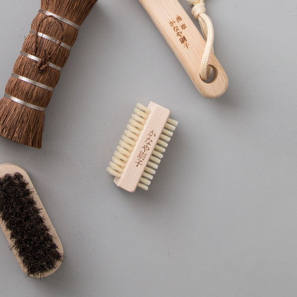 Double Sided Hog Hair Nail Brush
