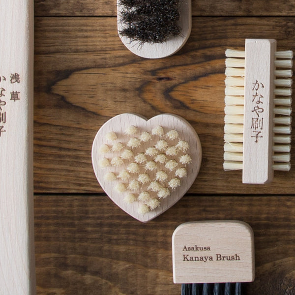 Heart Shaped Hog Hair Nail Brush