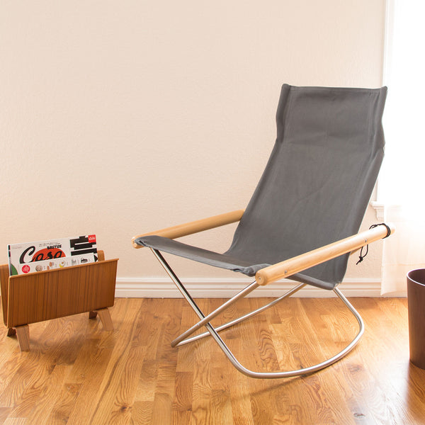 Rocking Chair, Gray-Chair-Nychair X-JINEN