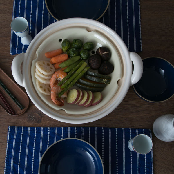 Mushi Nabe - Donabe Steamer - Medium-Clay Hot Pot-Nagatani-en-JINEN
