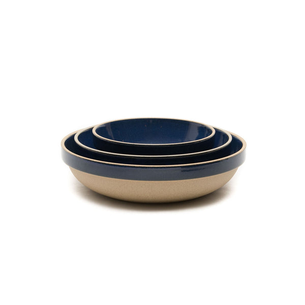 "Round Bowl, Gloss Blue-Bowl-Hasami Porcelain-5.75""-JINEN"